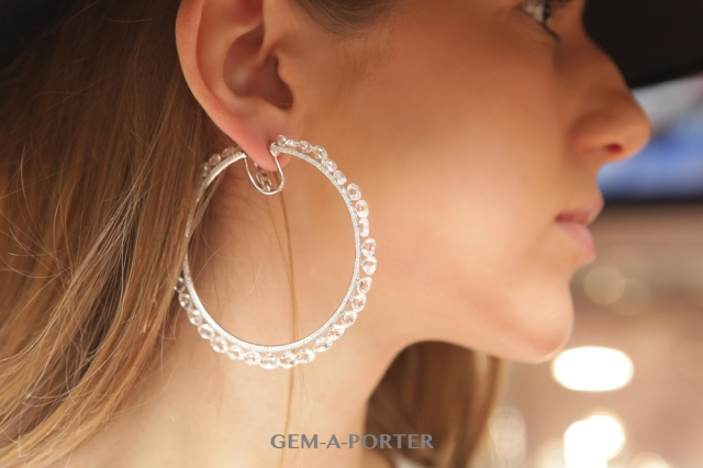 Chopard earrings from the Haute Joaillerie collection featuring Taviz cut diamonds set in white gold – POA