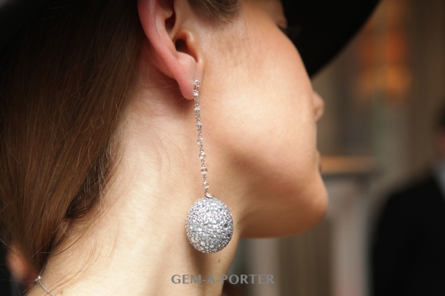 Chopard earrings from the Haute Joaillerie collection featuring a diamond, white gold and titanium drop - POA