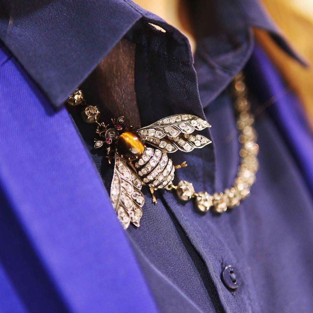 Annina Vogel Uber Diamond Bee Rivieria Necklace
